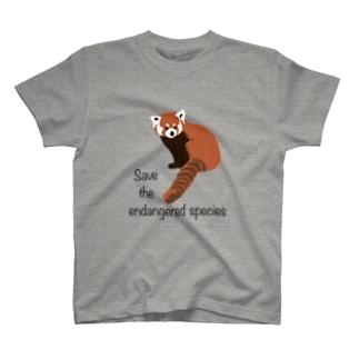 レッサーパンダ 絶滅危惧種を守ろう T-Shirt