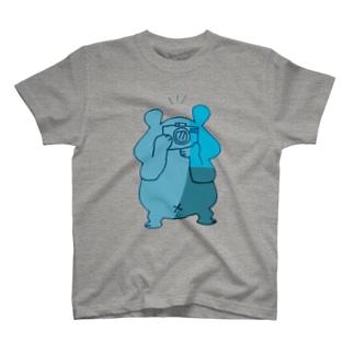 カメラ小僧 青 T-shirts