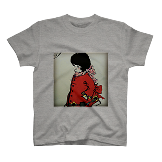 chie_art_galleryのキノコカット女子 T-shirts