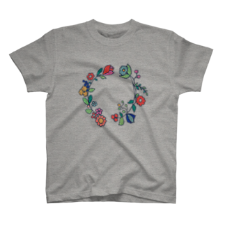 out of pagesのおもいでの花輪 T-shirts