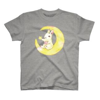 しず華*(カラー・リボンボン)のお月様 T-shirts