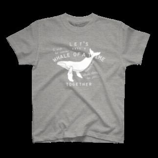 クジラのマグカップ屋さん。プラスのザトウクジラ Tシャツ