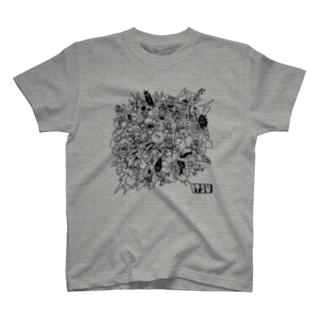 POKASUKA_black T-shirts
