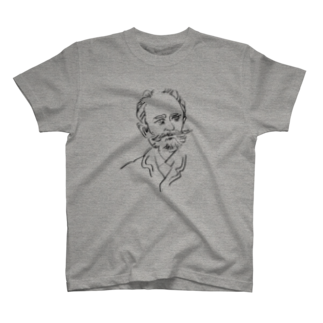 音楽愛好家協会「こんごう」 の【チャイコフスキー】-ブラック T-shirts