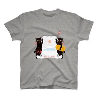 銀鉤舎 招き猫 T-shirts