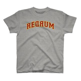 REDRUM 灰×ボルドー T-shirts