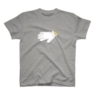 道端によく片方だけ落ちてる軍手 Tシャツ T-shirts