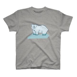 シロクマ T-shirts
