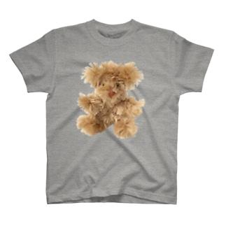 手づくりクマ ベージュ T-shirts