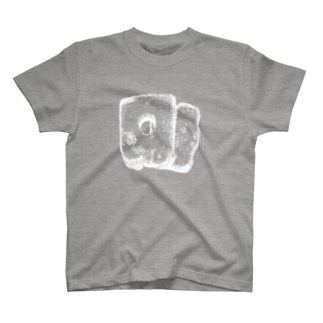 真ん中に穴が空いた食パンのTシャツ(白) T-shirts