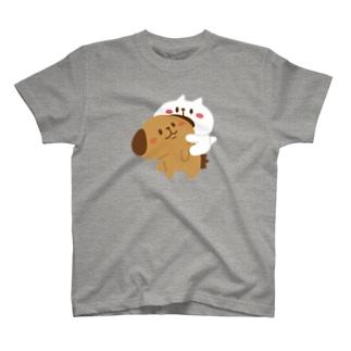 ぶーちゃんとこーすけん ぴた_線なし T-shirts