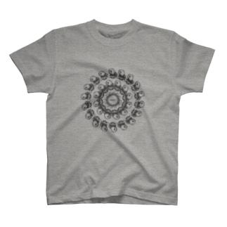 アマビエ_ぐるぐる T-shirts