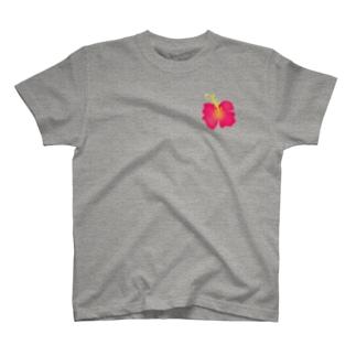 ハイビスカス(小) T-shirts
