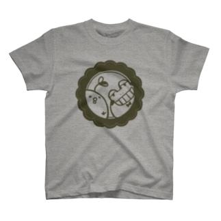 発芽ひよこ豆と未熟カエル T-shirts