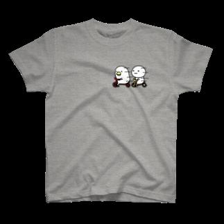 mame&coのトリとまるいのTシャツ T-shirts