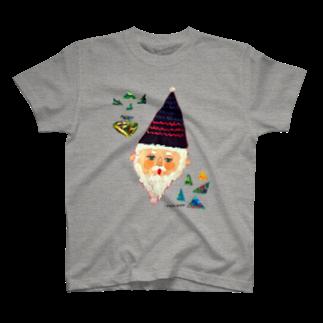 伊敷トゥートのサンカクじいさん Tシャツ