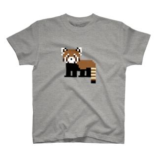ドットレッサーパンダ T-shirts