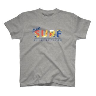 ネットサーフ(曲線) T-shirts