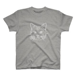 猫(白) T-shirts