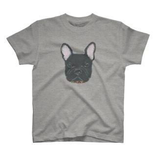 フレンチブルドッグ (黒) T-shirts
