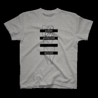コバヤシのアクセス修飾子(グレー) T-shirts
