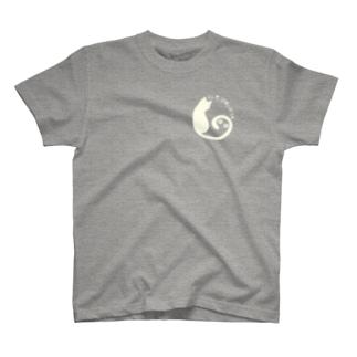 ねこざんまい あしあと おふほわいと T-shirts