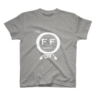 スイッチOFF(濃色用) T-shirts