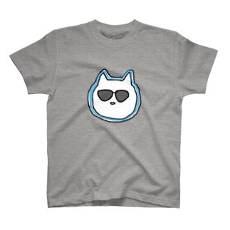 ぐらさんねこ(あお) T-shirts