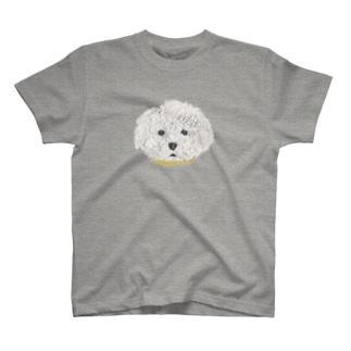 プードル (白) T-shirts