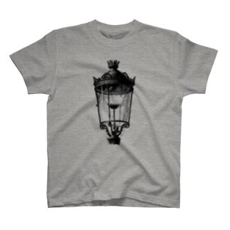 ガス灯 <アンティーク・プリント> T-shirts