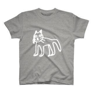 なんでごはんくれないの。はよう。はよう。(濃い色用の白線) T-shirts
