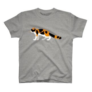 おどおどにゃんこ T-shirts