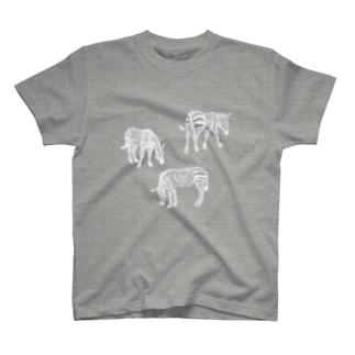 シマウマBW T-shirts