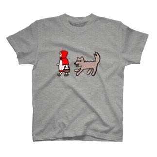 赤ずきんちゃんとオオカミさん T-shirts