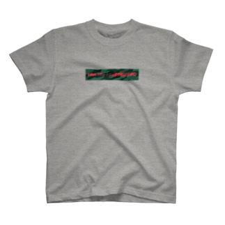 国士の迷彩(緑×赤) T-shirts