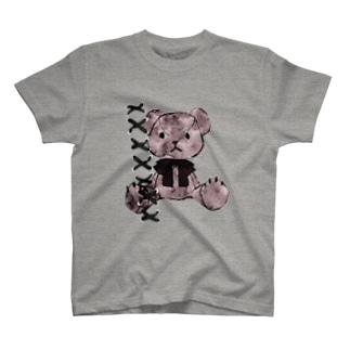 コラージュくまちゃん透明 T-shirts