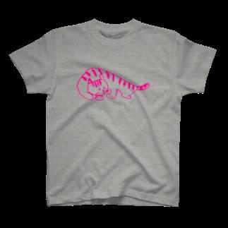 ayaka-kasののんびりネコ T-shirts