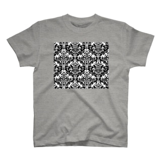 ダマスク柄ブラック T-shirts
