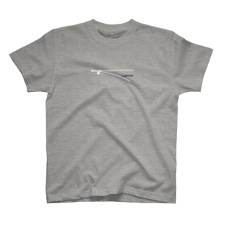 zipper柄 りんどらむTシャツ《グレー》 T-shirts