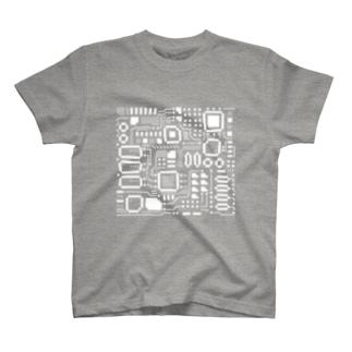 処理場の電子基盤 T-shirts