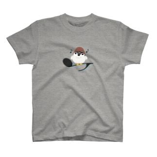 CT161 スズメがちゅんB*イラストサイズノーマルver. T-shirts