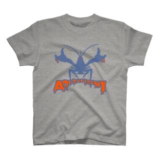 恐怖!青いザリガニ!!(衣類) T-shirts