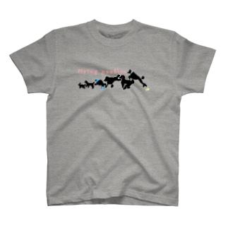 にぎやかプードル T-shirts