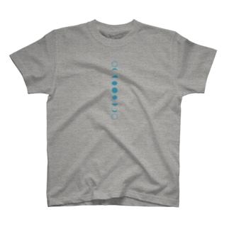 朔望 青 たて T-shirts
