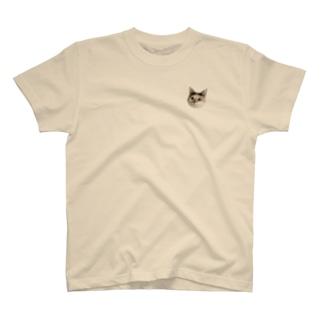 ミケねこです。 Tシャツ
