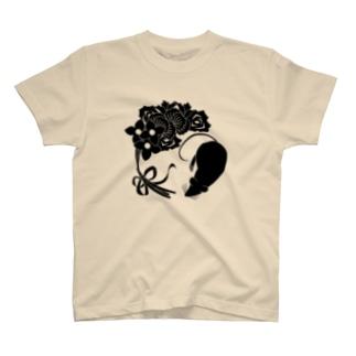 SF家紋「鼠に華束」 Tシャツ