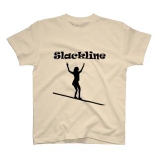 スラックライン(ウォーク) Tシャツ