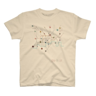 London Tube Map Tシャツ
