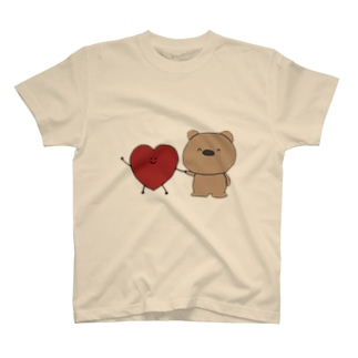 はーとちゃんとくまくん(heazu) Tシャツ