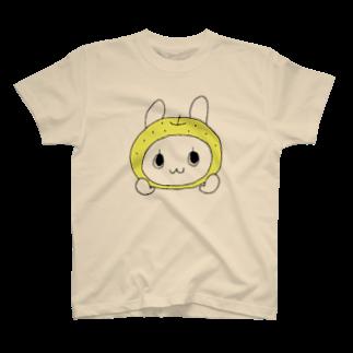 nmmrの梨うさぎTシャツ